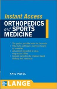 Ebook in inglese LANGE Instant Access Orthopedics and Sports Medicine Patel, Anil