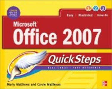Ebook in inglese Microsoft Office 2007 QuickSteps Matthews, Carole , Matthews, Marty