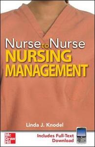 Nurse to Nurse Nursing Management - Linda Knodel - cover