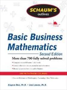 Schaum's Outline of Basic Business Mathematics, 2ed - Eugene Don,Joel Lerner - cover