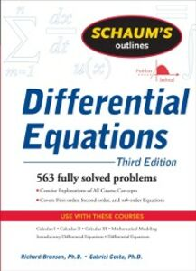 Ebook in inglese Schaum's Outline of Differential Equations, 3ed Bronson, Richard