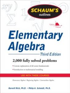 Ebook in inglese Schaum's Outline of Elementary Algebra, 3ed Rich, Barnett , Schmidt, Philip