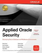 Applied Oracle Security: Developing Secure Database and Middleware Environments