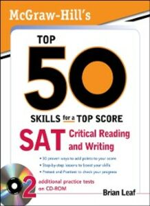 Ebook in inglese McGraw-Hill's Top 50 Skills for a Top Score: SAT Critical Reading and Writing Leaf, Brian