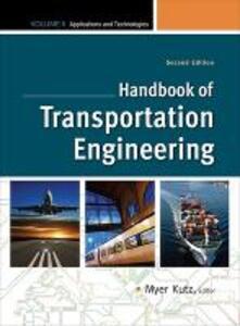 Handbook of Transportation Engineering Volume II - Myer Kutz - cover