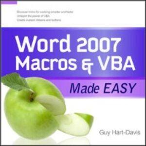 Ebook in inglese Word 2007 Macros & VBA Made Easy Hart-Davis, Guy