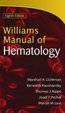 Williams manual of hematology - MArshall A. Lichtman - copertina