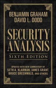 Security Analysis: Sixth Edition, Foreword by Warren Buffett (Limited Leatherbound Edition) - Benjamin Graham,David Dodd,Seth A. Klarman - cover
