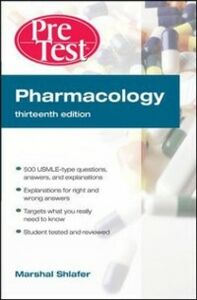 Ebook in inglese Pharmacology: PreTest Self-Assessment and Review, Thirteenth Edition Shlafer, Marshal