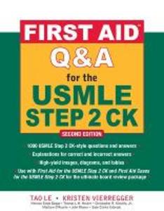 Libro First aid Q&A for the USMLE step 2 CK Le Tao , Kristen Vierregger