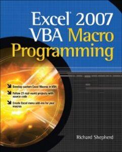 Ebook in inglese Excel 2007 VBA Macro Programming Shepherd, Richard