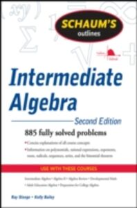Foto Cover di Schaum's Outline of Intermediate Algebra, Second Edition, Ebook inglese di Kerry Bailey,Ray Steege, edito da McGraw-Hill Education