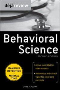Ebook in inglese Deja Review Behavioral Science, Second Edition Quinn, Gene
