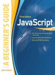 Ebook in inglese JavaScript, A Beginner's Guide, Third Edition Pollock, John