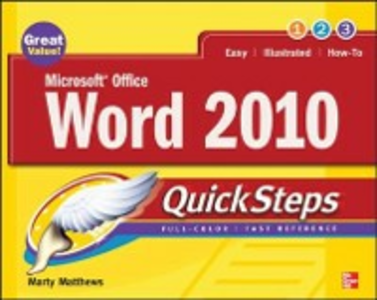 Ebook in inglese Microsoft Office Word 2010 QuickSteps Matthews, Marty