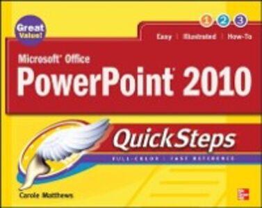 Ebook in inglese Microsoft Office PowerPoint 2010 QuickSteps Matthews, Carole