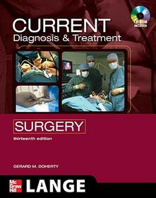 Current diagnosis and treatment surgery. Con DVD - Gerard M. Doherty - copertina