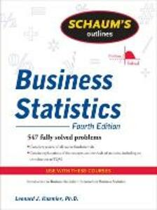 Schaum's Outline of Business Statistics, Fourth Edition - Leonard J. Kazmier - cover