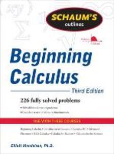 Schaum's Outline of Beginning Calculus - Elliott Mendelson - cover