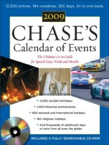 Ebook in inglese Chase's Calendar of Events 2009 Events, Editors of Chase's Calendar of