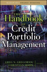 Ebook in inglese Handbook of Credit Portfolio Management Gregoriou, Greg N. , Hoppe, Christian