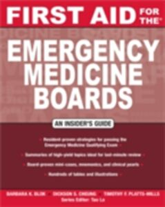Ebook in inglese First Aid for the Emergency Medicine Boards Blok, Barbara , Cheung, Dickson S. , Platts-Mills, Timothy F.