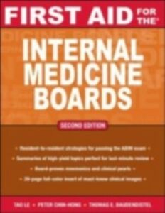 Ebook in inglese First Aid for the Internal Medicine Boards Baudendistel, Tom , Chin-Hong, Peter , Le, Tao