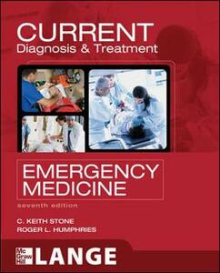 Current diagnosis and treatment emergency medicine - Keith C. Stone,Roger L. Humphries - copertina