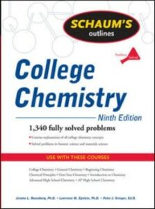 Ebook in inglese Schaum's Outline of College Chemistry, Ninth Edition Epstein, Lawrence , Krieger, Peter , Rosenberg, Jerome