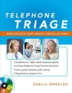 Ebook in inglese Telephone Triage: Protocols for Adult Populations Wheeler, Sheila