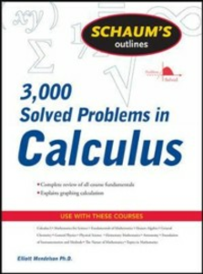 Ebook in inglese Schaum's 3,000 Solved Problems in Calculus Mendelson, Elliott