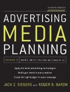 Advertising Media Planning - Jack Z. Sissors,Roger B. Baron - cover