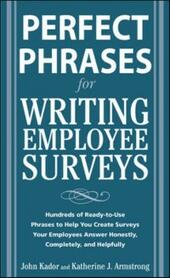 Perfect Phrases for Writing Employee Surveys