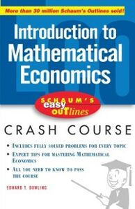 Ebook in inglese Schaum's Easy Outline of Introduction to Mathematical Economics Dowling, Edward