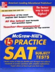 Ebook in inglese McGraw-Hill's 15 Practice SAT Subject Tests McGraw-Hill Educatio, cGraw-Hill Education