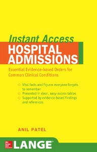Ebook in inglese LANGE Instant Access Hospital Admissions Patel, Anil