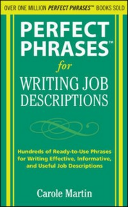 Ebook in inglese Perfect Phrases for Writing Job Descriptions Martin, Carole