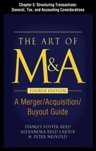 Ebook in inglese Art of M&A, Fourth Edition, Chapter 5 Lajoux, Alexandria , Nesvold, H. Peter , Reed, Stanley Foster