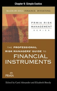 Ebook in inglese Professional Risk Managers' Guide to Financial Instruments, Chapter 9 (PRMIA), Professional Risk Managers' International Association