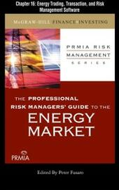 Professional Risk Managers'Guide to the Energy Market, Chapter 16