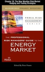 Ebook in inglese Professional Risk Managers' Guide to the Energy Market, Chapter 18 (PRMIA), Professional Risk Managers' International Association