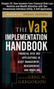 Ebook in inglese VAR Implementation Handbook, Chapter 23 Gregoriou, Greg N