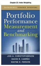 Portfolio Performance Measurement and Benchmarking, Chapter 22