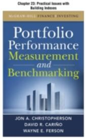 Portfolio Performance Measurement and Benchmarking, Chapter 23