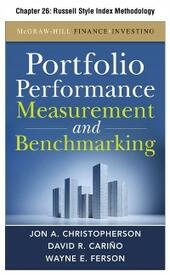 Portfolio Performance Measurement and Benchmarking, Chapter 26