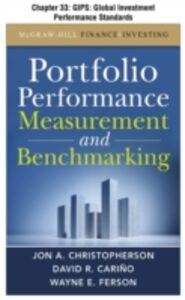 Foto Cover di Portfolio Performance Measurement and Benchmarking, Chapter 33, Ebook inglese di AA.VV edito da McGraw-Hill
