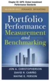 Portfolio Performance Measurement and Benchmarking, Chapter 33