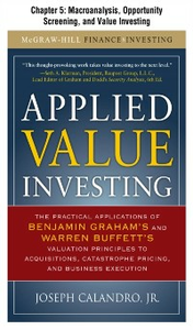 Ebook in inglese Applied Value Investing, Chapter 5 Calandro, Jr., Joseph
