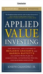 Applied Value Investing, Conclusion