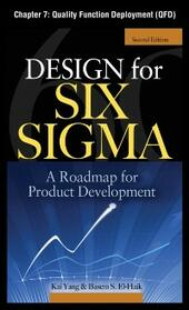 Design for Six Sigma, Chapter 7